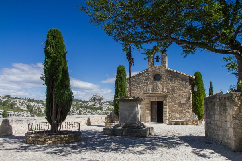 Small church in Les Baux De Provence, Provence, France
