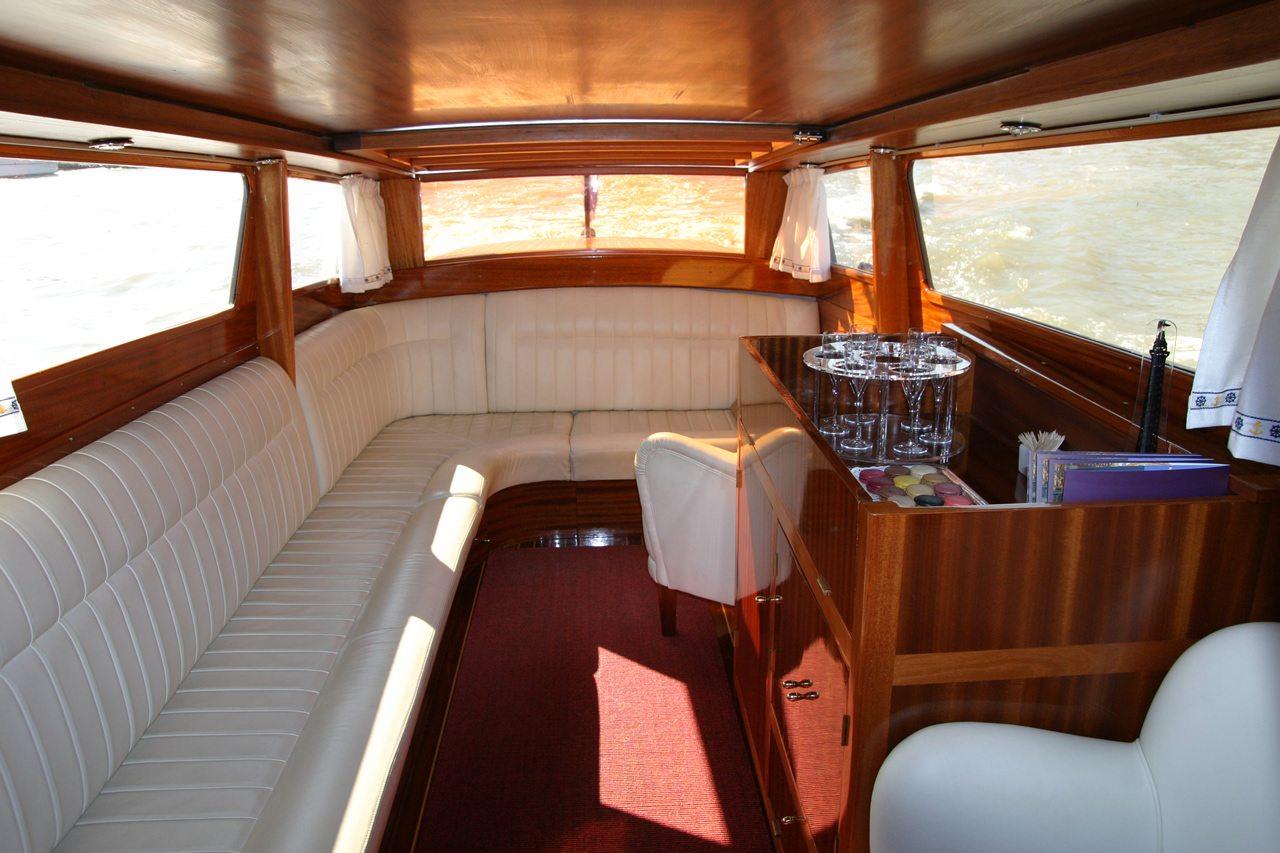 River Limousine Paris luxury boat interior