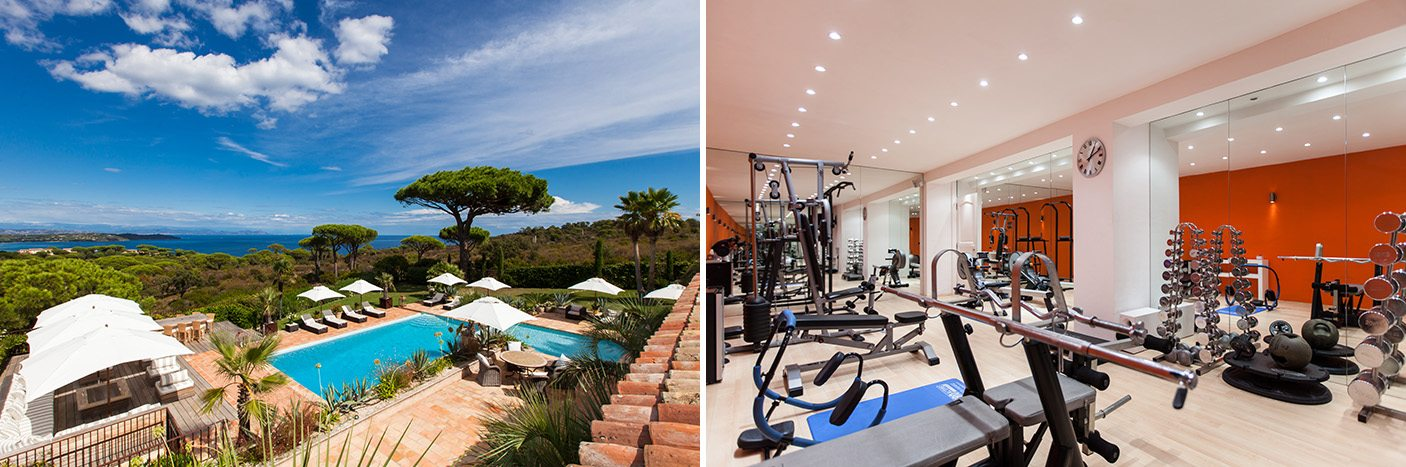 villa glamour with gym
