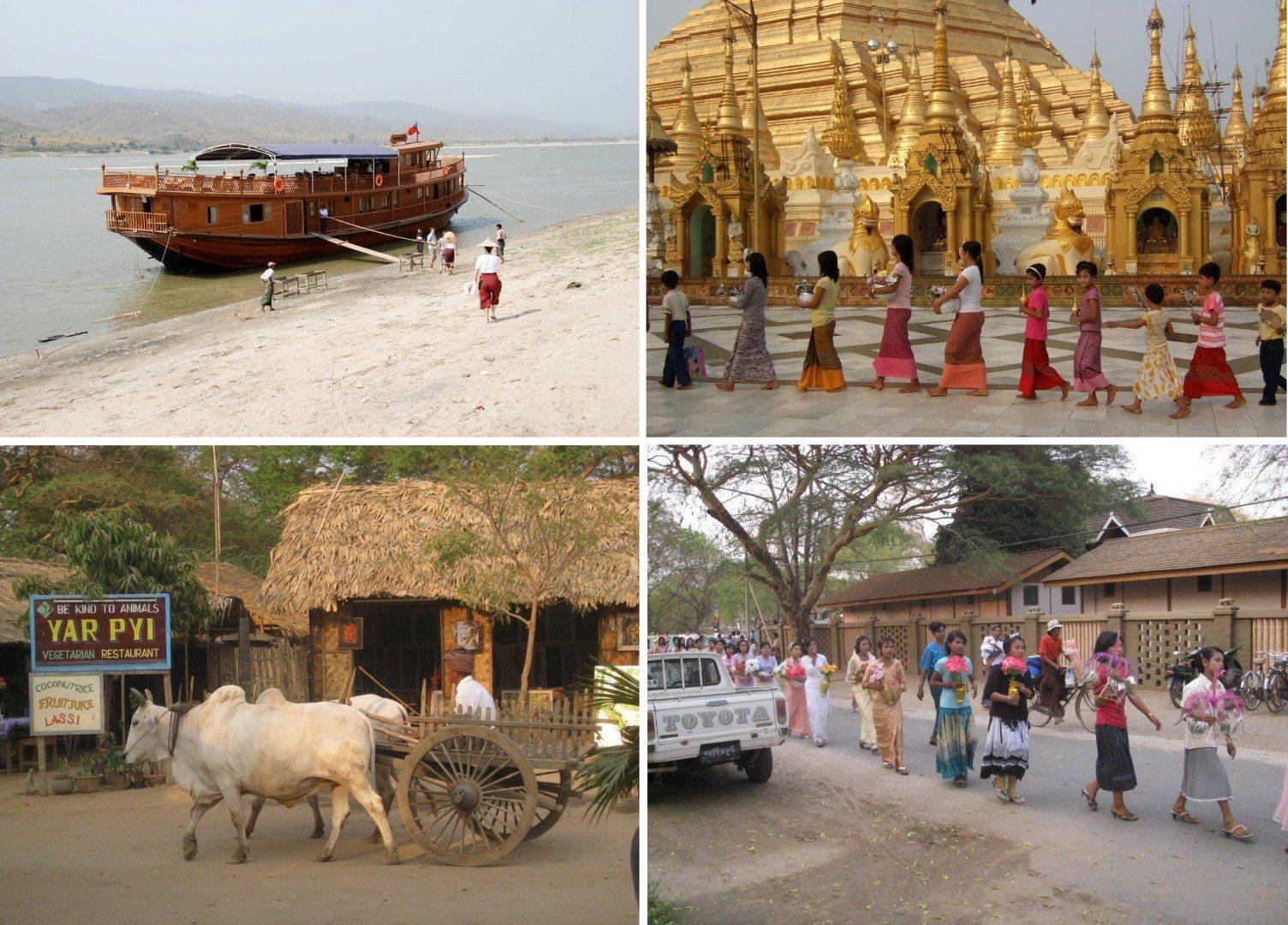 Myanmar cruise scenes