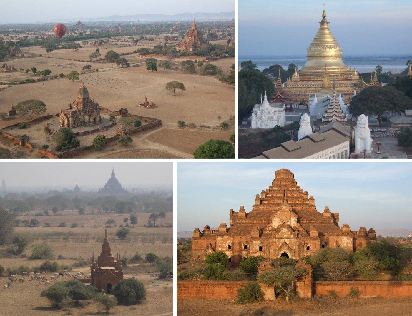 Bagan temple collage